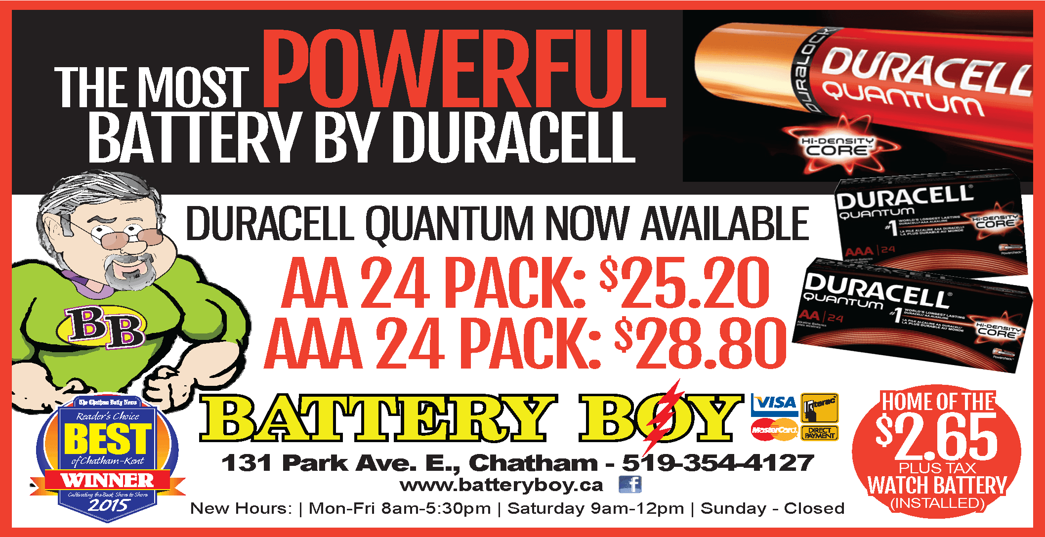 Battery Boy - Duracell Quantum - 138 - May 27